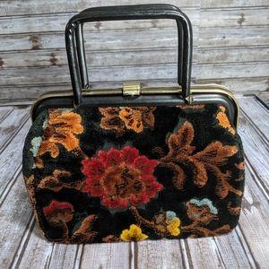 Small vintage carpet bag